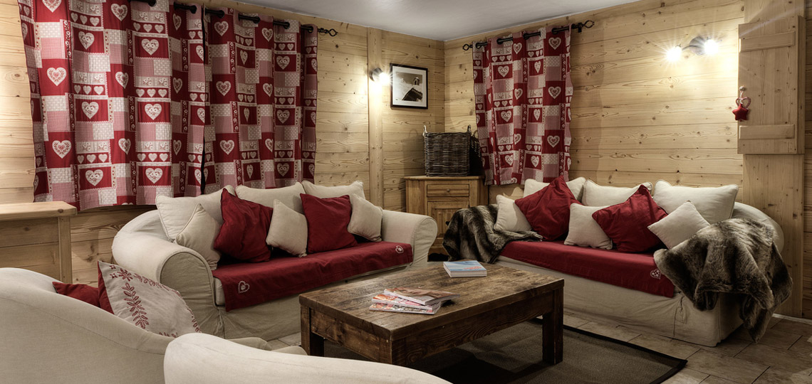 Chalet Blanche sitting room