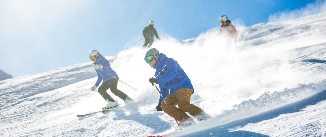 Group of people skiing in Meribel