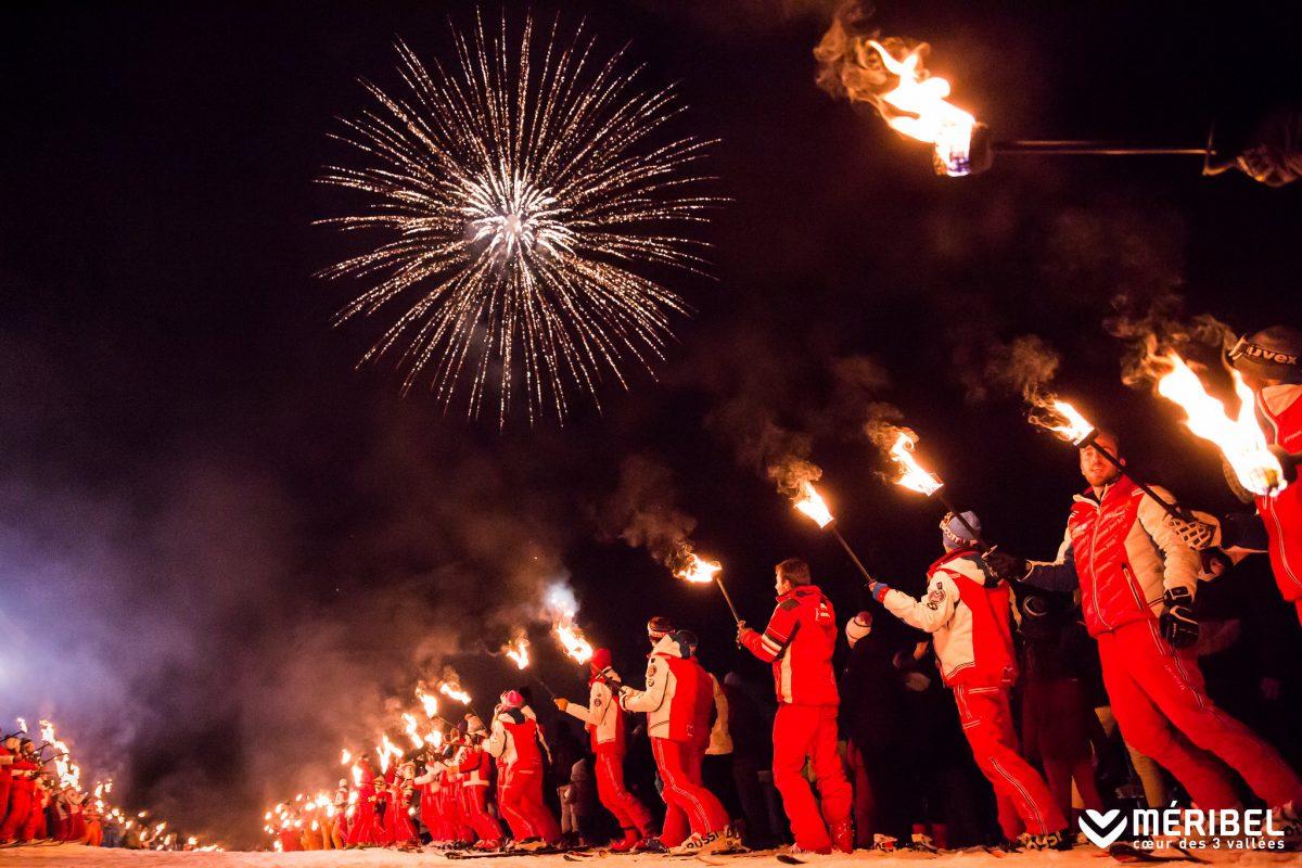 Meribel Torch light procession