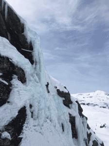 Dainora ice climbing