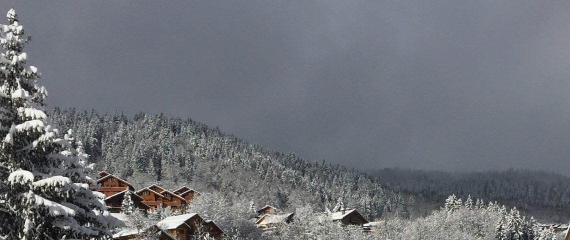 Meribel covered in Snow
