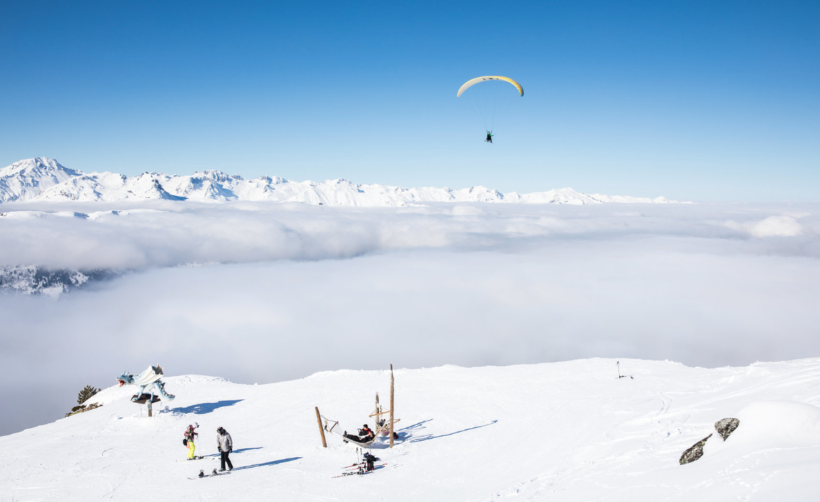 Soar the skies of Meribel this Valentine's