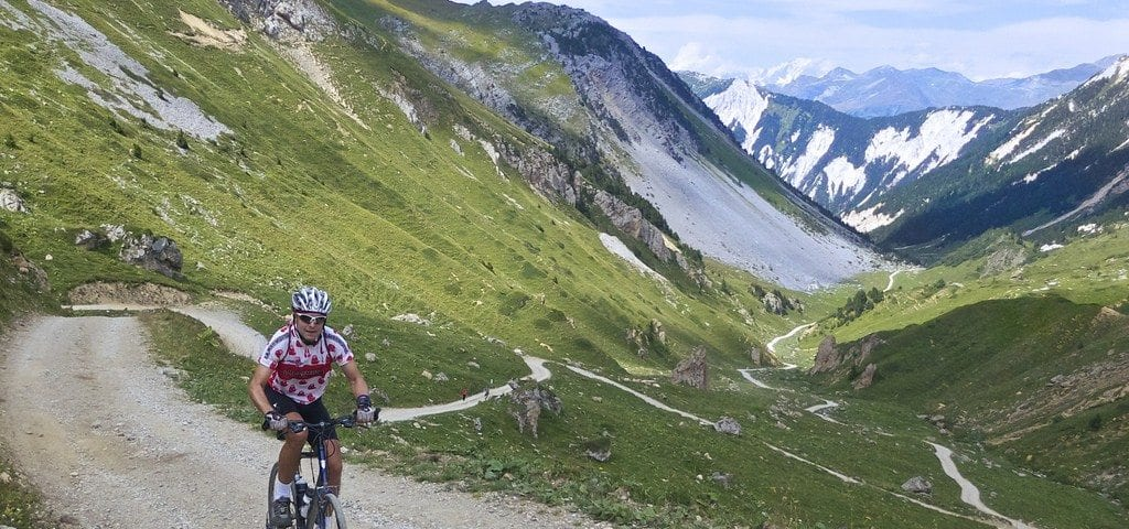 Biking in Meribel 01