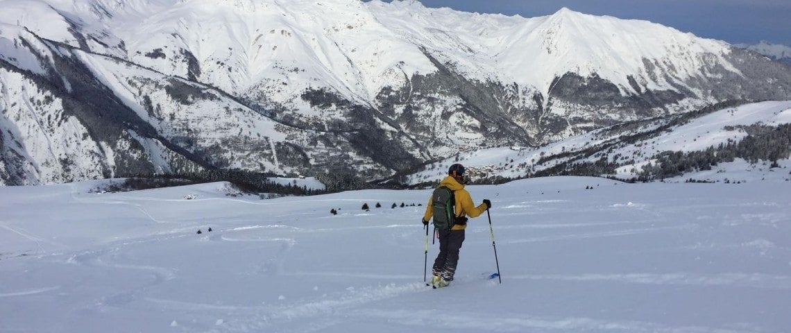 Skiing in Meribel 01
