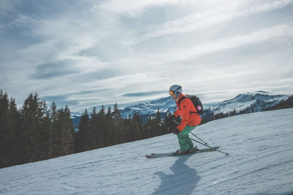skiing in the mountians opt