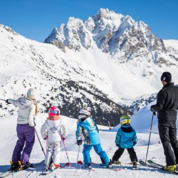 skiing whilst pregnant in Meribel