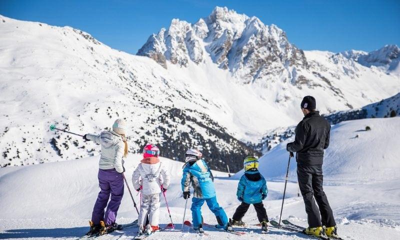 skiing whilst pregnant in Meribel