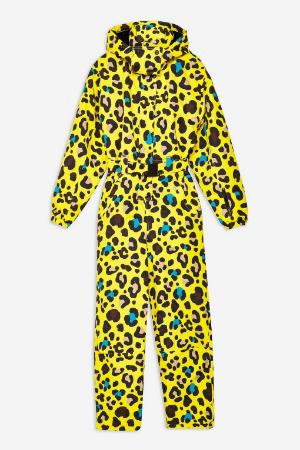 topshop SNO leopard print ski suit